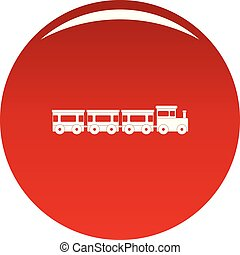 Express train icon vector red