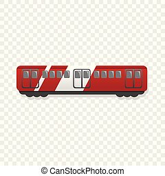 Express wagon icon, cartoon style