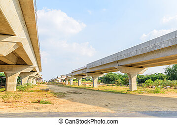 express way in under construction area