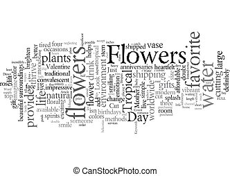 Express Your Love With Flowers text background wordcloud concept