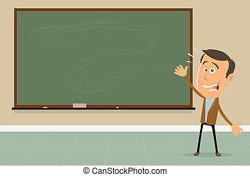Express Yourself ! - Teacher Showing Blackboard Sign