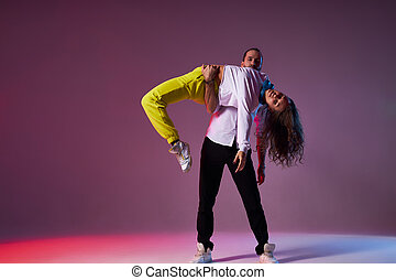 expression., όμορφος , χορεύω , latino , δίνω παράσταση , ζευγάρι