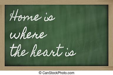 expression, coeur, -, maison, où, b, école, écrit