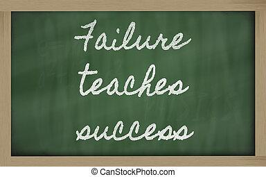handwriting blackboard writings - Failure teaches success