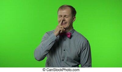 expression, homme, enlever, idiot, mauvais, rigolote, amusant, moeurs, cueillette, nose., boogers, stupide, stupide