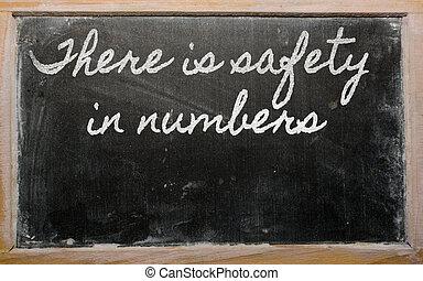expression, nombres, sécurité, -, là, b, école, écrit