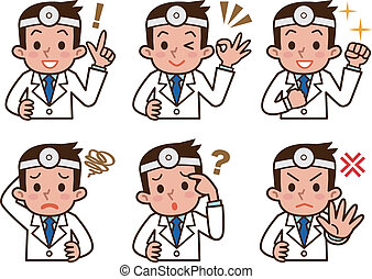 Expression of the doctor