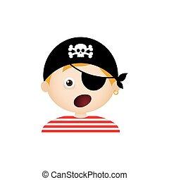 expression, pirate, facial
