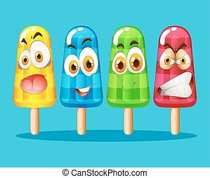 expression, popsicle, facial