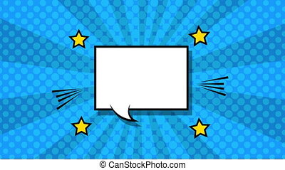 expression speech bubble pop art style