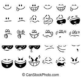 expressions, dessin animé