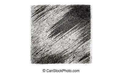 Expressive animated black drawn squares. Seamless loop...