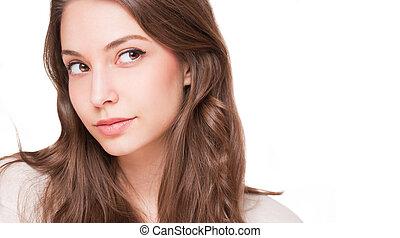 Expressive brunette beauty.