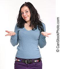 Expressive brunette
