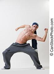 Expressive dancer exercising