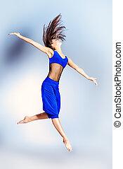 expressive dancer - Expressive bellet dancer dancing at...