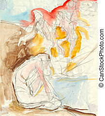 expressive drawing - figure