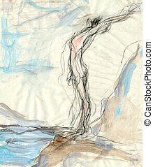 expressive drawing - Orpheus