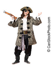 Expressive pirate with a pistol