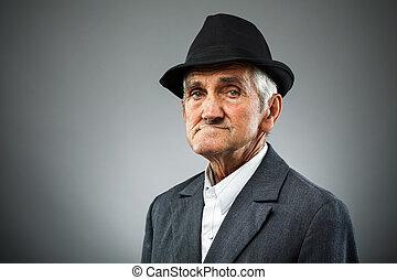 Expressive senior portrait