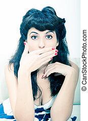 Expressive Vintage girl