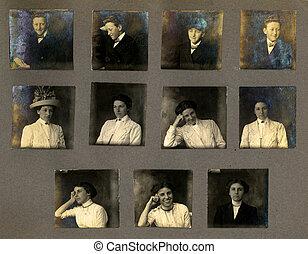 Vintage Portrait Proofs - Expressive Vintage Portrait Proofs...
