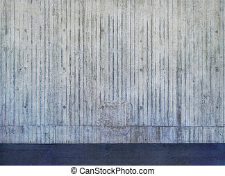 expuesto, pared concreta