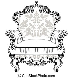 Fabulous Imperial Baroque armchair