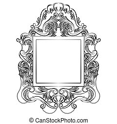 Exquisite Fabulous Imperial Baroque Mirror frame. Vector...