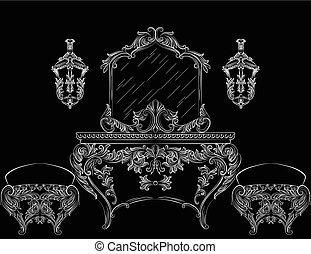 Rich Baroque Rococo furniture