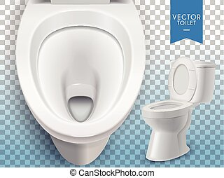Exquisite toilet mockup - Closeup look at toilet mockup,...