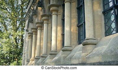extérieur, bâtiment classique, vieux, piliers