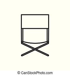 extérieur, délassant, symbole, aventure, illustration, siège, conception, mince, chaise, ligne, icône