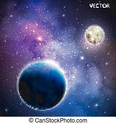 extérieur, fond, espace, résumé, ciel nuit, illustration, stars., vecteur, manière, laiteux