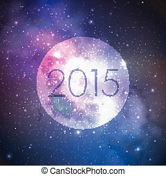 extérieur, fond, espace, résumé, ciel nuit, illustration, stars., year., vecteur, manière, laiteux, 2015, nouveau, heureux