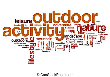 extérieur, mot, nuage, activité