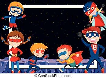 extérieur, superheroes, espace
