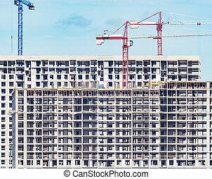 extérieur, time., construction, vue, bâtiment, logement