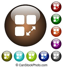 Extend component color glass buttons