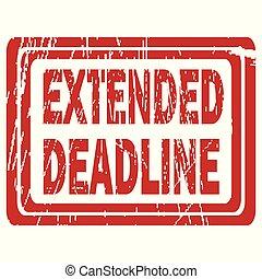 Extended deadline rubber stamp