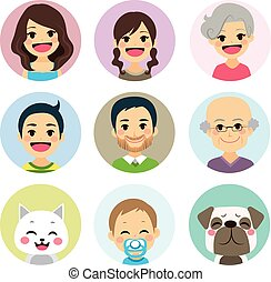 Extended Family Avatar - Happy extended family funny avatar...