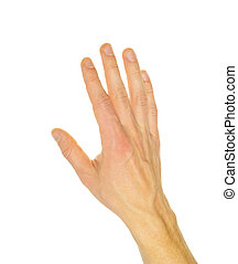 hand - Extended hand for help on a white background