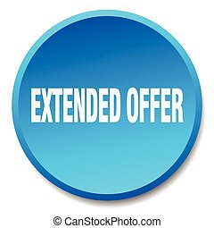 extended offer blue round flat isolated push button