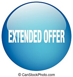 extended offer blue round gel isolated push button
