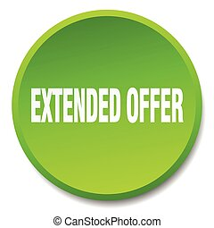 extended offer green round flat isolated push button