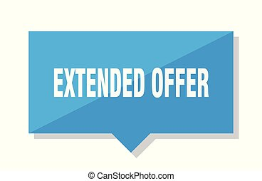 extended offer price tag - extended offer blue square price...