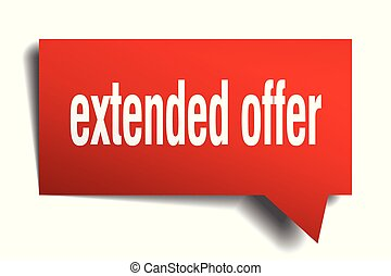 extended offer red 3d speech bubble - extended offer red 3d...