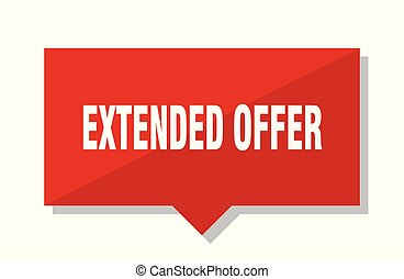 extended offer red tag - extended offer red square price tag