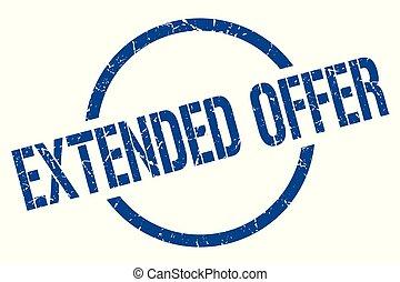 extended offer stamp - extended offer blue round stamp