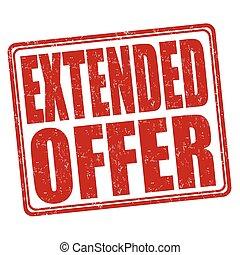 Extended offer stamp